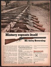 1969 BROWNING BL-22 shown with original Winc. 86, 87, 92, 94, 95 Rifle AD