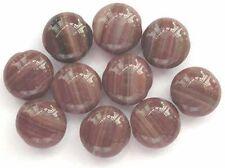 10 Cuentas checas de vidrio marrón lentejas 13mm