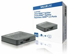Valueline 2-port HDMI splitter HDMI input to 2x HDMI output black