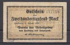 Harburg  -  Verein der Arbeitgeber  -  200 Tsd. Mark