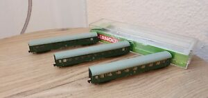 Arnold Hornby Personenwagen-Set 4204,Spur N, Modernisierungswagen,DR, Ep.4,grün,