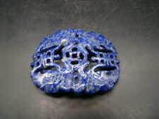 Chinese 1970's nice carved nature color Lapis big pendant x6149