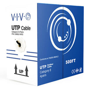 VIVO 500ft Cat6 LAN Network Ethernet Cable Wire Cat-6 Waterproof Outdoor Burial