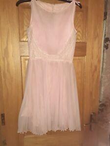Ladies Antique Genuine Dress Circa 1930. Pink. Size  8/10 Petite. Daymor Couture