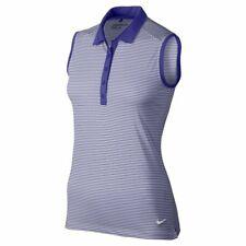 Nike Women's Victory Stripe Sleeveless Golf Polo Size M