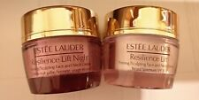 NEW ESTEE LAUDER RESILIENCE LIFT FIRMING FACE AND NECK DAY AND NIGHT CREAM 15ML