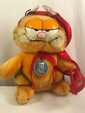 Vintage GARFIELD 1978 Plush Devil Toy with Original Tags Garfield Horns & Cape