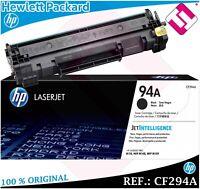 TONER NEGRO CF294A 94A CARTUCHO 100% ORIGINAL PARA IMPRESORAS HP LASERJET PRO