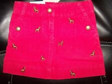 Crew Cuts Red Corduroy Embroidered Pony Horse Skirt Fall Preppy Size 2 NEW