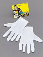 NEW ADULT WHITE MAGICIANS / CLOWN GLOVES WIZARD POP FANCY DRESS OUTFIT ACCESSORY