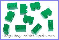 Lego 10 x Basicsteine Bausteine grün - 3004 - Brick 1 x 2 green - NEU / NEW