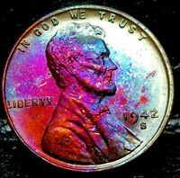 """1942-S Lincoln Wheat Penny Cent- """"Beautifully Toned"""" SUPERB MS++ GEM++ BU++ 01"""