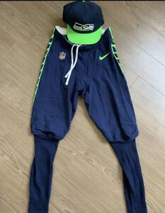 NFL Seattle Seahawks Game Used Worn Pants #20 Rashaad Penny - Size 32 Drawstring