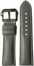 24x22 RIOS1931 for Panatime Grey Vintage Leather Watch Strap for Panerai