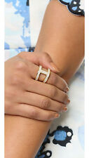 NWT Michael Kors Maritime Link Ring in Gold / Pave Sz 7 MKJ44627107