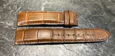 Jaeger-LeCoultre Alligator Leather Chocolate Brown Strap 20.0/18.0- 120/80