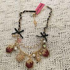 Large Betsey Johnson Strawberry Necklace