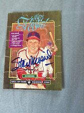 Stan Musial HOF DECEASED VINTAGE HAND SIGNED 1987 Donruss Puzzle Piece w/COA
