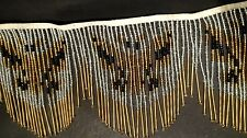 "4"" Butterfly Pattern Glass Beaded Fringe Trim Sold by Yard"