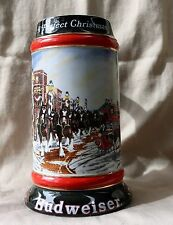 Budweiser 1992 Clydesdales Holiday Beer Stein - A Perfect Christmas- Vintage