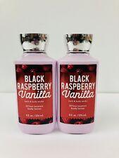 "2-Bath & Body Work, ""Black Raspberry Vanilla "" Body Lotion, 8oz Bottles, New"