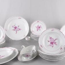 Meissen purpur Blumen, Speiseservice 29 Teile, 6 Personen, RAR, Service