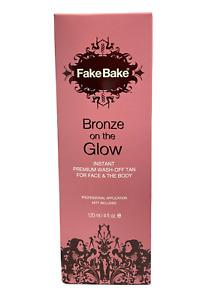 Fake Bake Bronze on the Glow Instant Premium Wash-Off Tan 120ml/4oz. New
