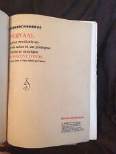 Vincent D'Indy Fervaal opéra partition chant piano reliée éditions Durand