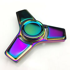 1PC Rainbow Tri Fidget Hand Spinner Ceramic Bearing EDC Focus Stree Relaxing Toy