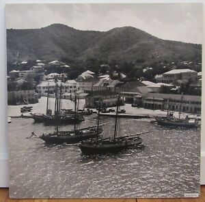 """Signed 1950 Fritz Henle (d.1993) photograph Christiansted Harbor St.Croix 20x20"""""""