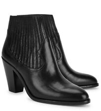 Ash Ilona Leather Ankle Boot, Western Cowboy, EU36/US6, Cone Heel