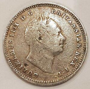 *Scarce* 1835 William IIII Three Pence Silver Coin L2