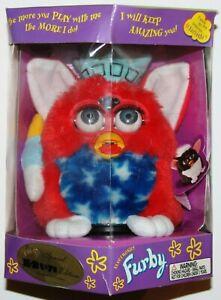 1999 Hasbro Furby Patriotic 70-893 Tiger Electronics Special K-B Toys Edition