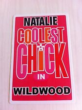 NATALIE Coolest Chick In Wildwood New Jersey Personalized Wall Door Sign NJ N.J.