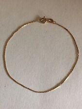 9Ct Solid Gold Bracelet/Anklet Vintage Slender Designer Giovanni Balestra
