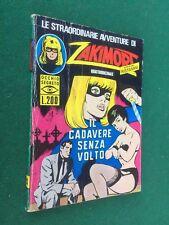 ZAKIMORT n.20 2a Serie IL CADAVERE SENZA VOLTO Ed. CEA (1973) Fumetto noir
