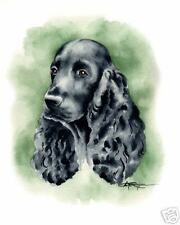 COCKER SPANIEL Dog Painting ART 11 X 14 Signed DJR
