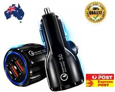 Quick Charge 3.0 In Car Charger 2 Ports USB Qualcomm QC Fast Charging Adapter AU