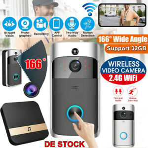 Türklingel mit Kamera Video WLAN Funkklingel Ring Doorbell WiFi HD Nachtsicht