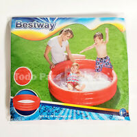 Childrens Inflatable Pool 48x10 Kids Swimming Pools Outdoor Water Fun Play Blue
