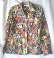 ALFRED DUNNER a    Women's BLOUSE size Med Petite floral rayon blend long