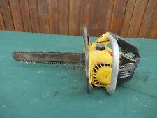 "Vintage McCULLOCH  MAC 110 Chainsaw Chain Saw with 14"" Bar"