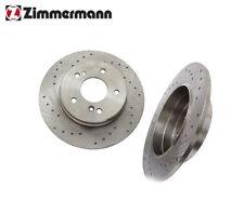 Mercedes 300CE C230 E320 Rear L/R Brake Disc Rotor Zimmermann Sport NEW