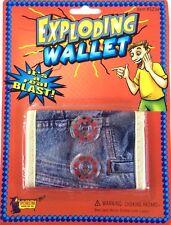 Exploding Bang Wallet Comedy Prank Magic Trick Gag Joke Red Caps Prop Loud Funny