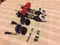 Atomic Evox 7.0 ski bindings kids jnr alpine salomon USED. Din 2-7.5 (Lot1)