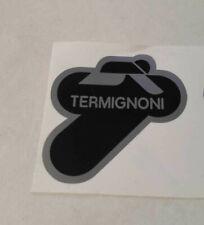 1 Adesivo Stickers TERMIGNONI resistente al calore 8,5 cm argento nero