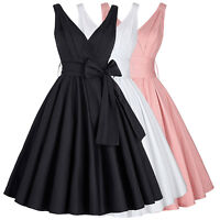 Vintage Ladies 50s 60s Swing Retro Housewife Pinup Cocktail Evening Party Dress