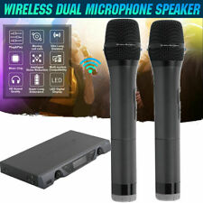 Pro Wireless Microphone System Dual Handheld 2 x Mic Cordless Receiver For U-828