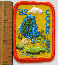 Vintage Girl Scout 1982 COOKIE SALE PATCH Pogo Stick Jumping Frog Badge CUTE
