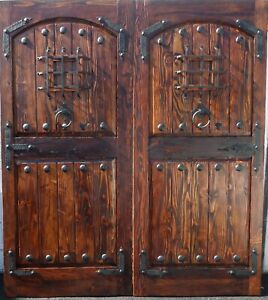 Rustic reclaimed lumber DOUBLE square door solid wood story book castle winery